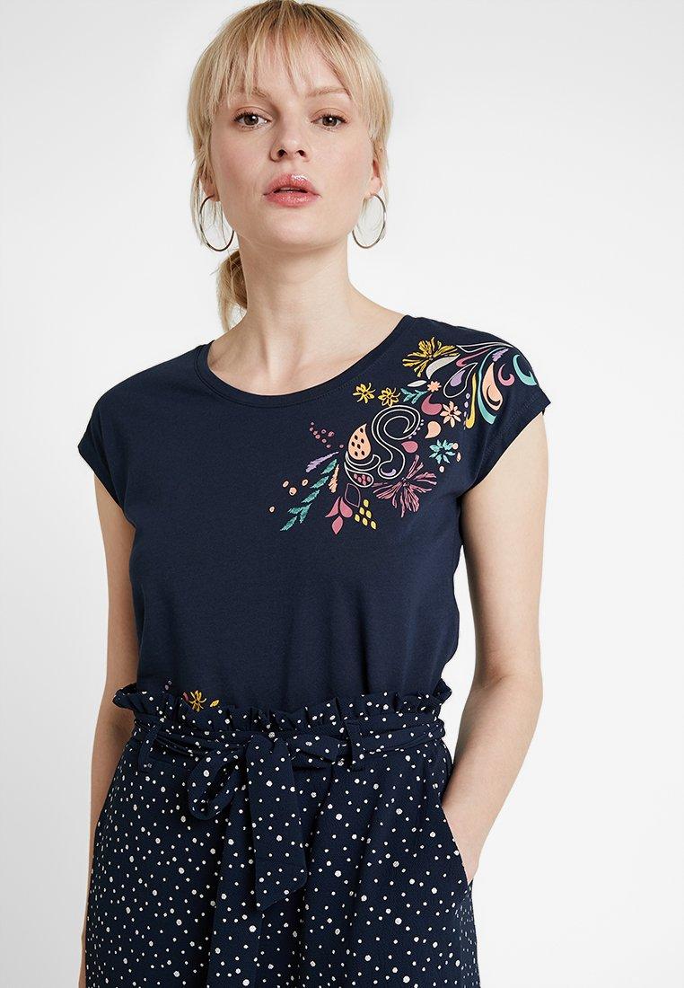 edc by Esprit - T-shirt z nadrukiem - navy