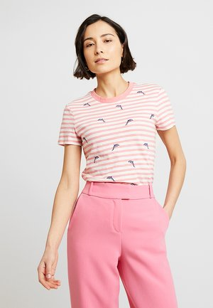 STRIPES EMBRO - Camiseta estampada - pink