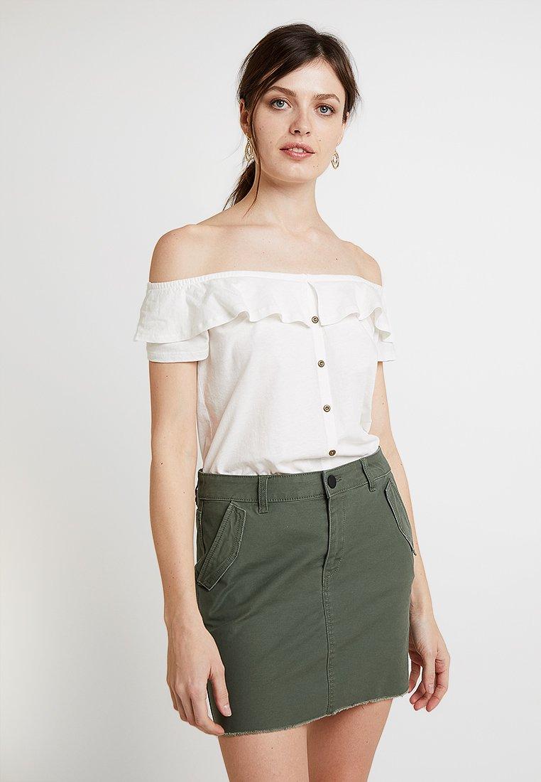 edc by Esprit - NEW CARMEN TEE - Bluse - off white