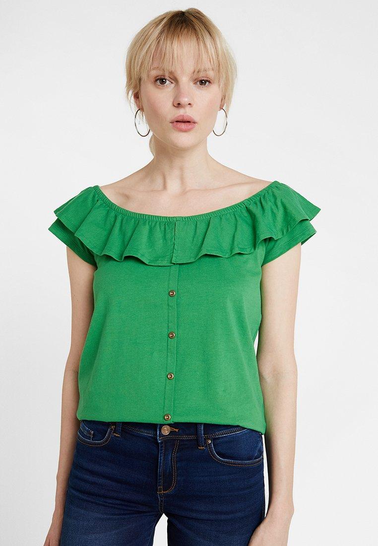 edc by Esprit - NEW CARMEN TEE - Bluse - dark green