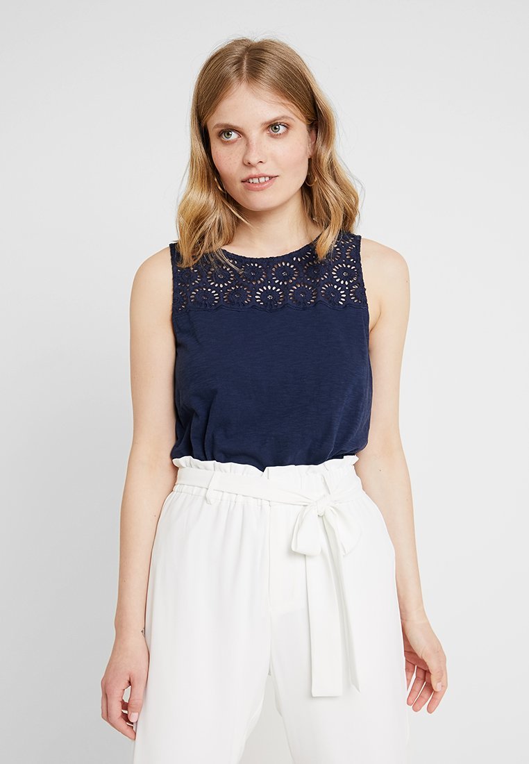 edc by Esprit - FABRIC MIX - Top - navy