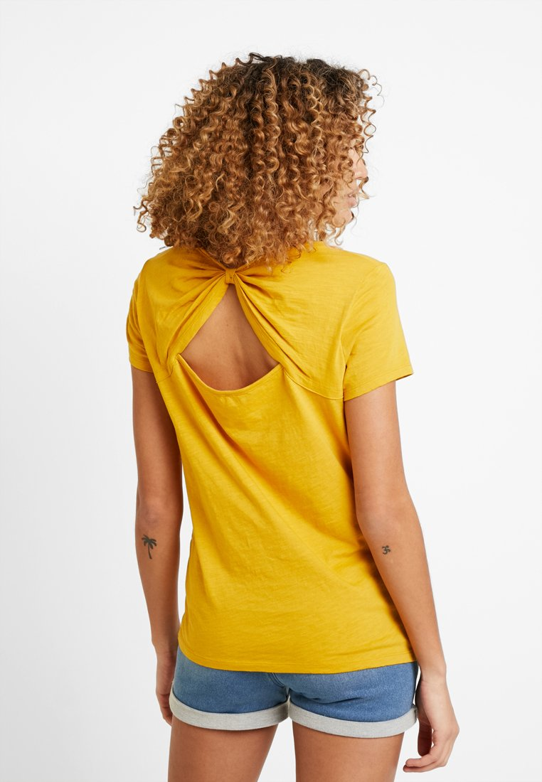 edc by Esprit - OCS BACK DETAIL - T-Shirt print - honey yellow