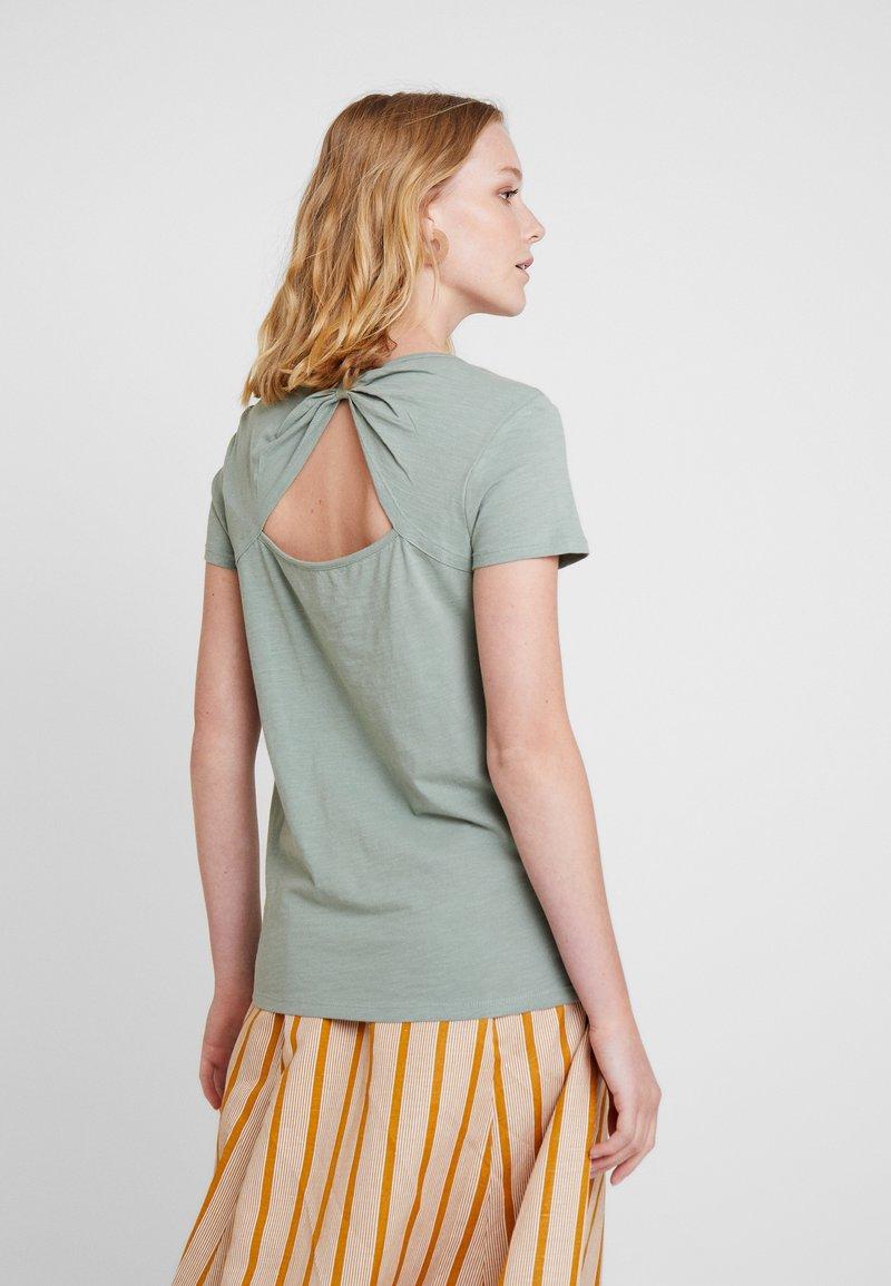 edc by Esprit - OCS BACK DETAIL - T-Shirt print - light khaki