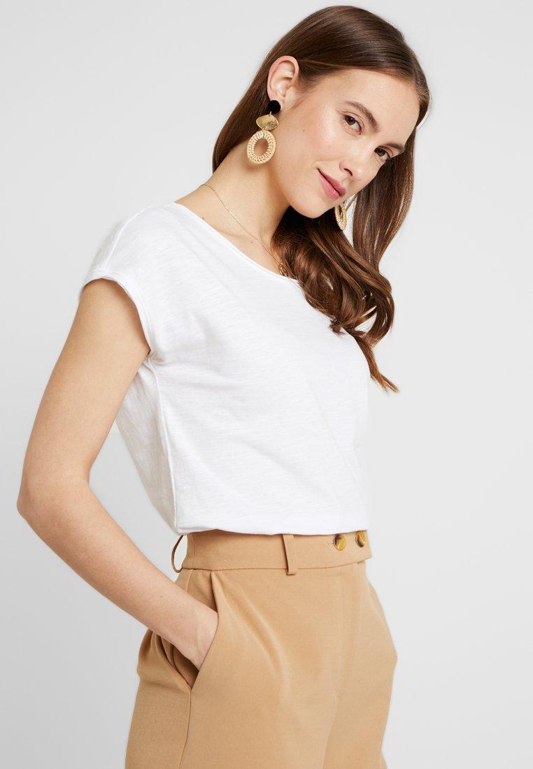 edc by Esprit - SLUB - Print T-shirt - white