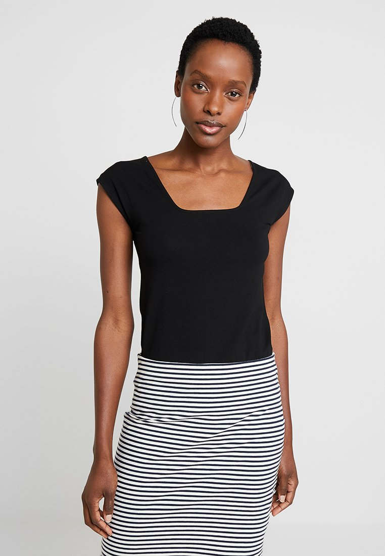 edc by Esprit - SQUARE NECK TEE - T-Shirt basic - black