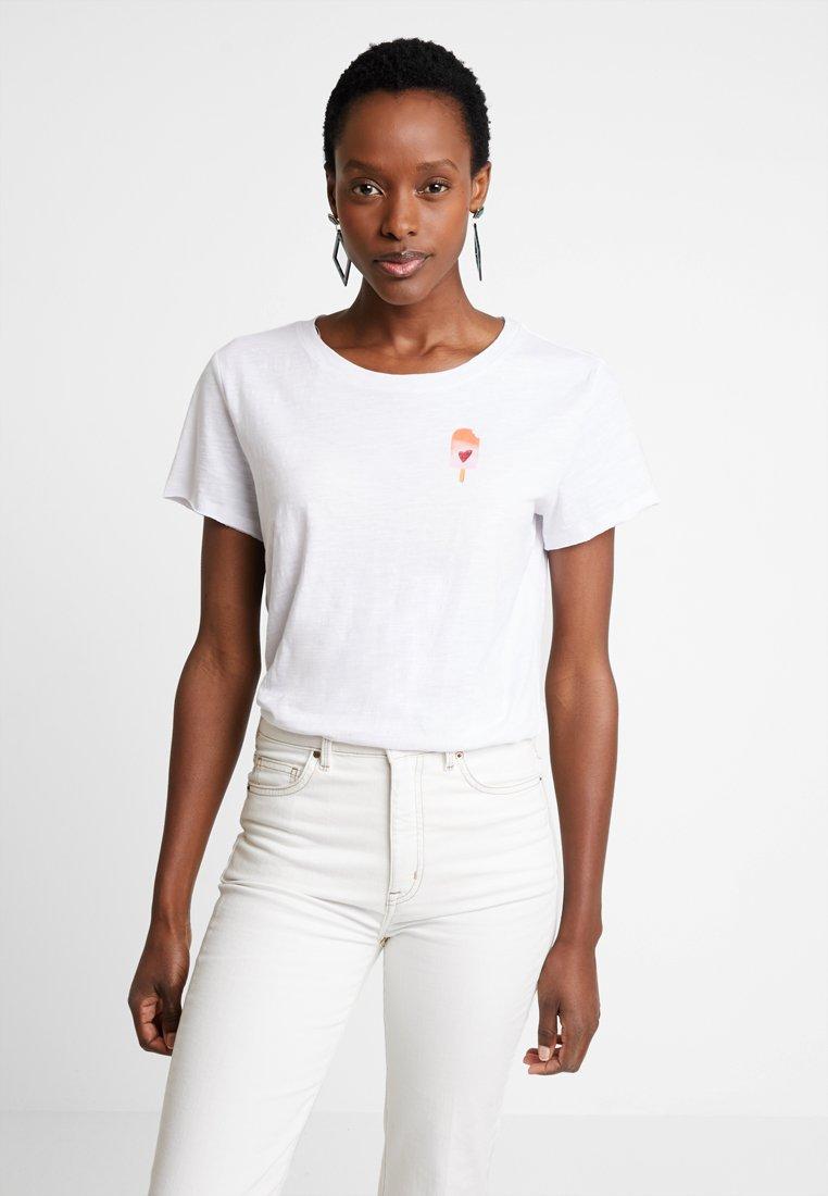 edc by Esprit - WATERCOLOR - T-Shirt print - white