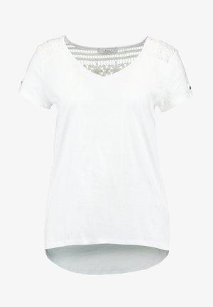 CROCHET MIX TEE - T-shirt imprimé - white