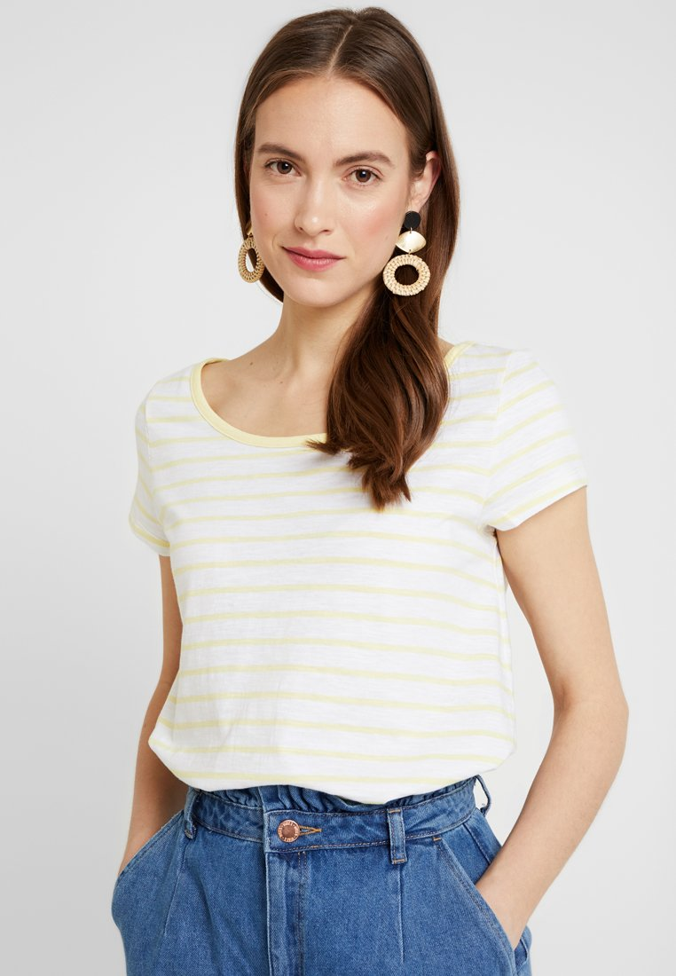 edc by Esprit - BUBBLE - T-Shirt print - light yellow