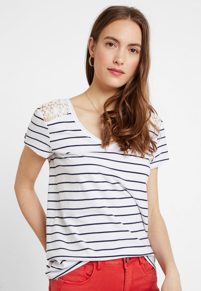 edc by Esprit - MIX TEE - T-Shirt print - white