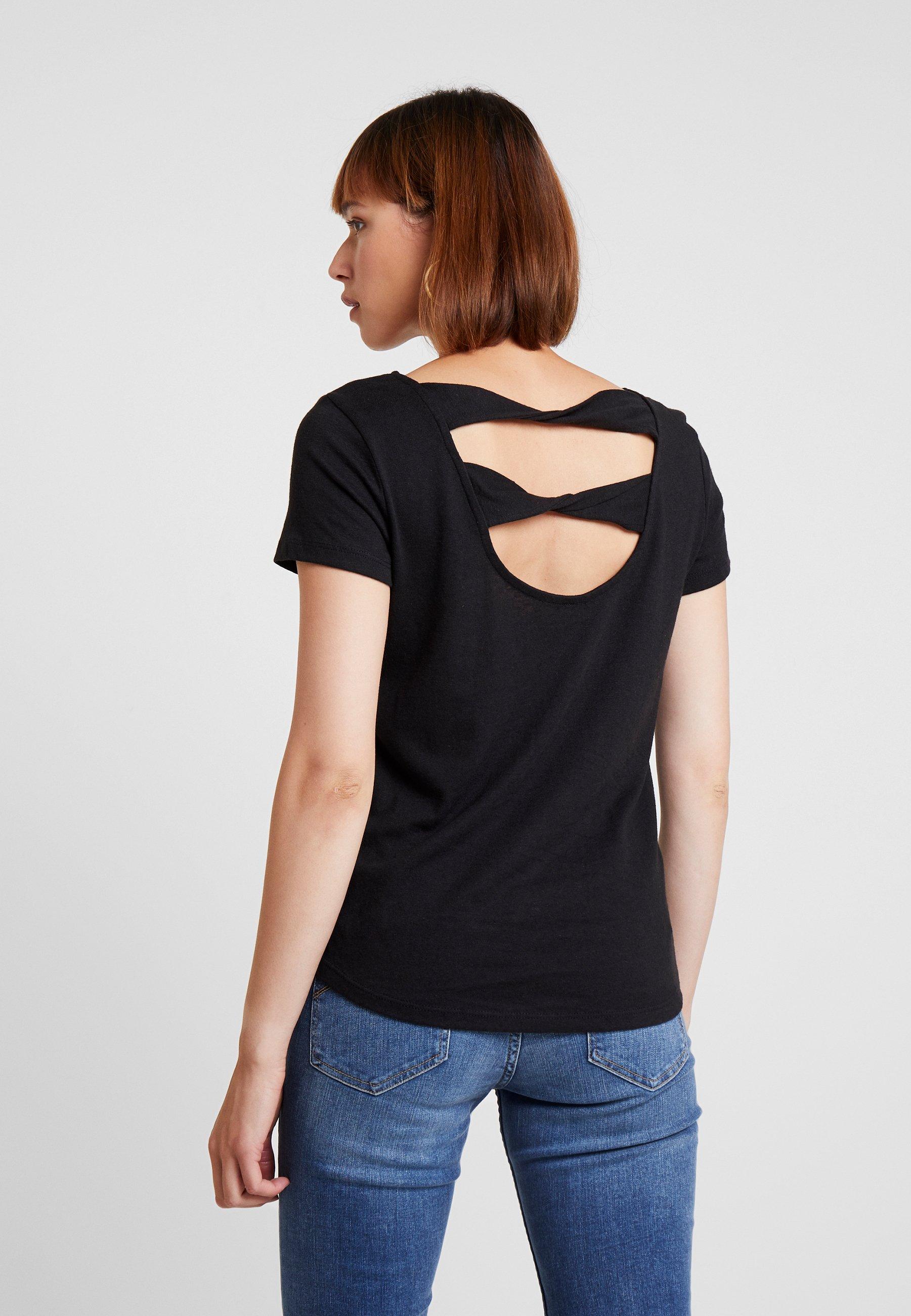 By Twist Black TeeT Imprimé Edc Esprit Back shirt fvYb7I6gy