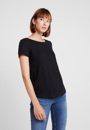 TWIST BACK TEE - T-shirt med print - black