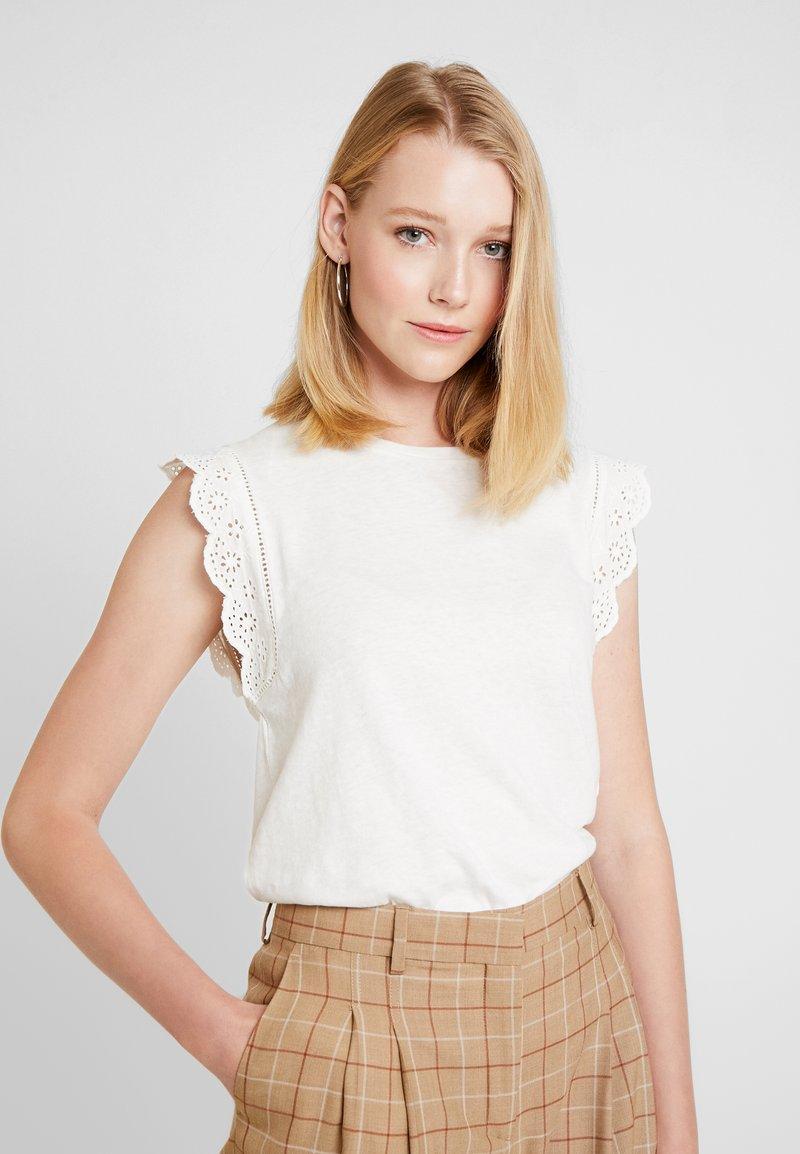 edc by Esprit - EMBRO TANK - Print T-shirt - off white