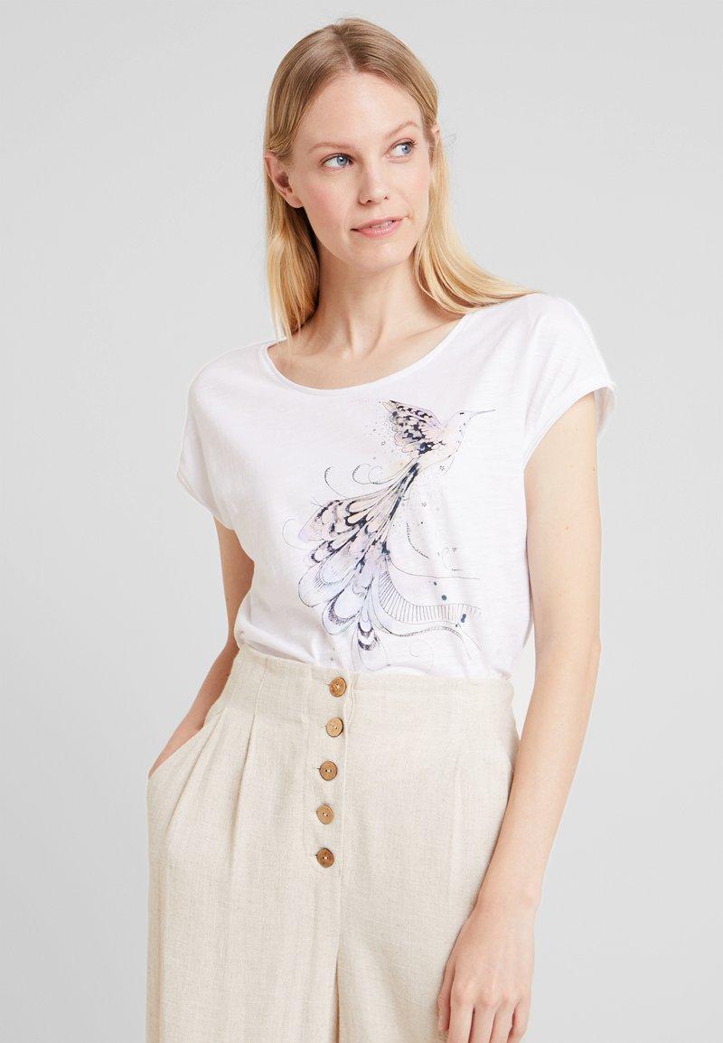edc by Esprit - DROPPED  - T-Shirt print - white