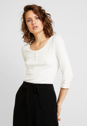 FLOW HENLEY - Long sleeved top - off white