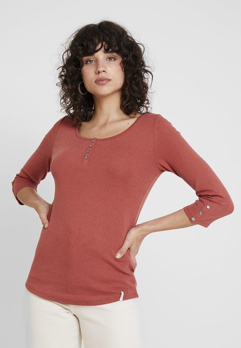 edc by Esprit - FLOW HENLEY - Long sleeved top - rust orange