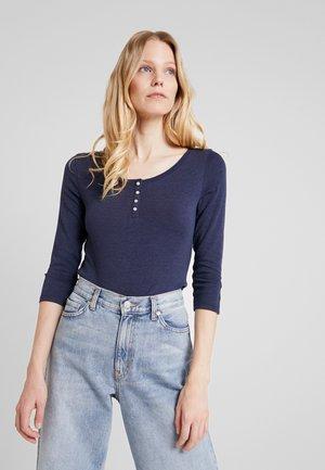 FLOW HENLEY - T-shirt à manches longues - navy