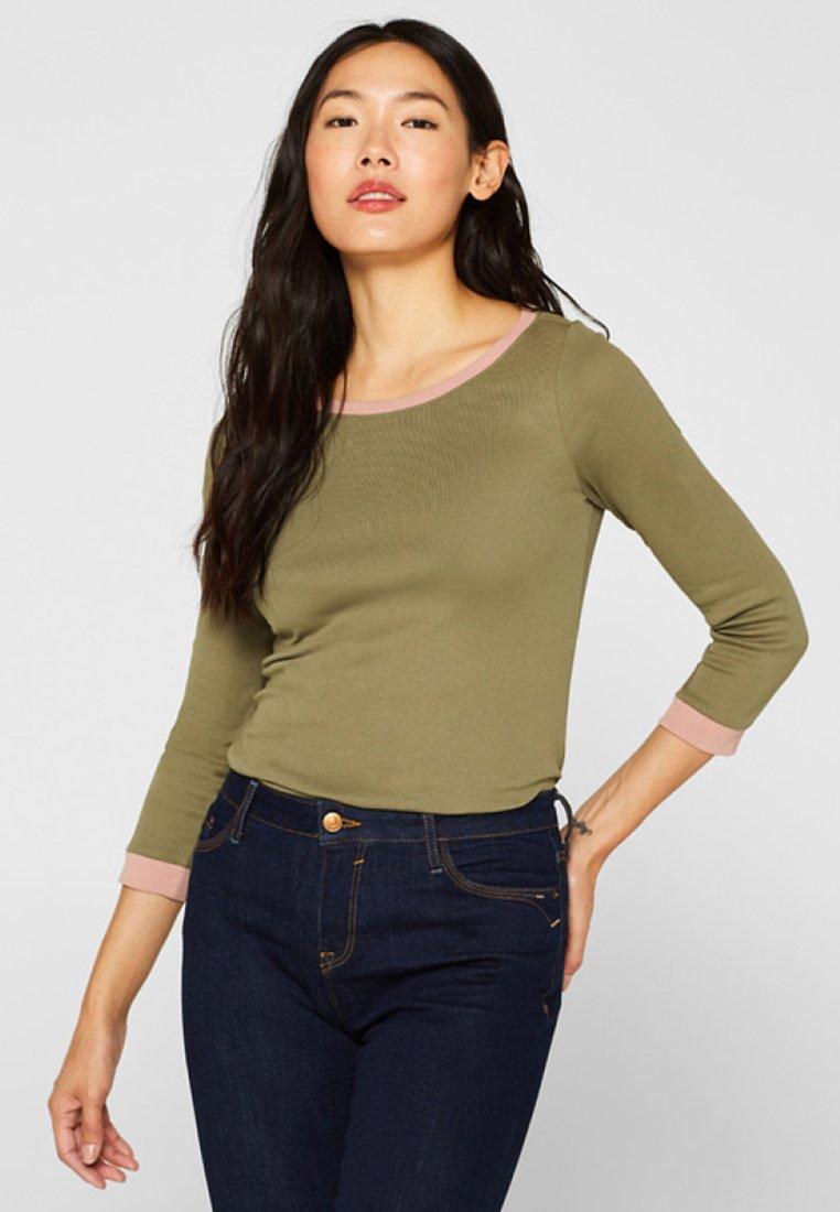 Manches Green Esprit By Edc shirt CoreT À New Khaki Longues SqzjUMpGLV