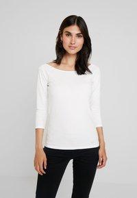 edc by Esprit - CORE FLOW - T-shirt à manches longues - off white - 0