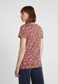 edc by Esprit - CORE TIGERS - T-shirt print - rust orange - 2