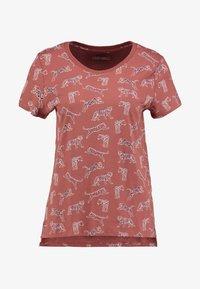edc by Esprit - CORE TIGERS - T-shirt print - rust orange - 4