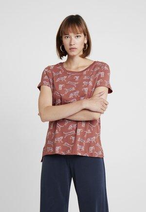 CORE TIGERS - T-shirt print - rust orange