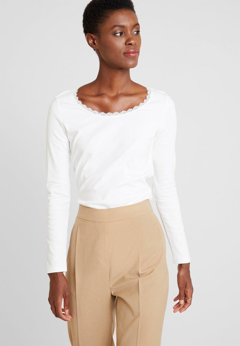 edc by Esprit - CORE FLOW - Maglietta a manica lunga - off white