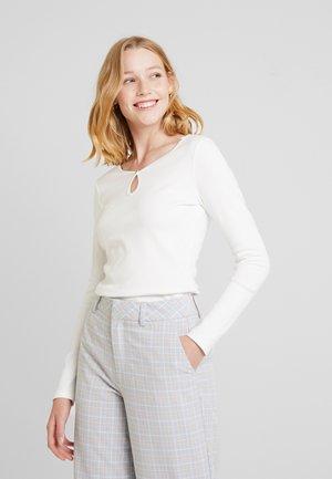 CORE FLOW - Maglietta a manica lunga - off white