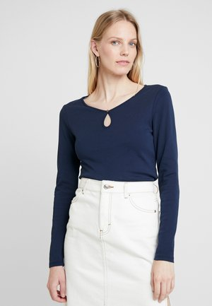 CORE FLOW - Maglietta a manica lunga - navy