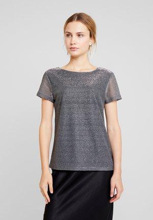 SHINE SCOOP - Print T-shirt - silver