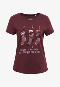edc by Esprit - CORE CHRISTMAS - T-shirts med print - bordeaux red - 3