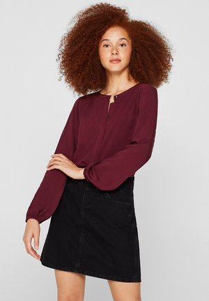Blouse - bordeaux red