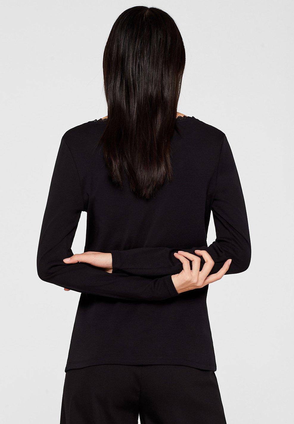 Esprit black longues edc shirt by manches T à m8wNvn0