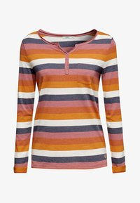 edc by Esprit - MIT OFFENEN KANTEN - Long sleeved top - terracotta - 6