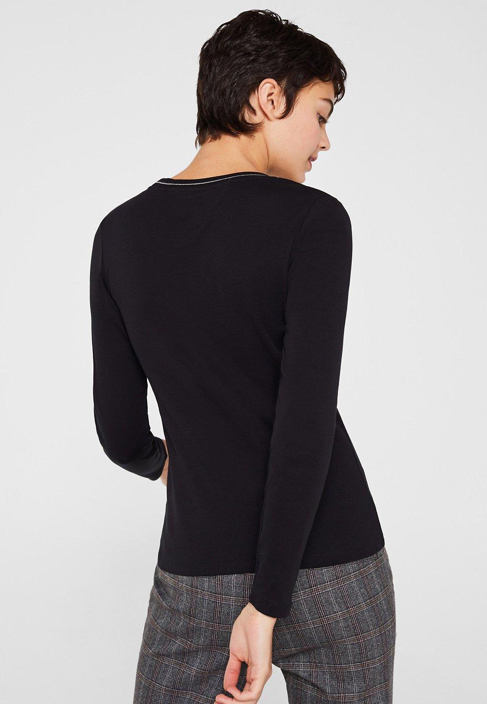 edc shirt Esprit black T manches longues à by E92IDWH