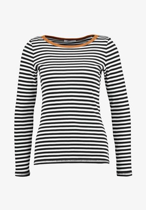 FLOW CONTRA - Long sleeved top - black