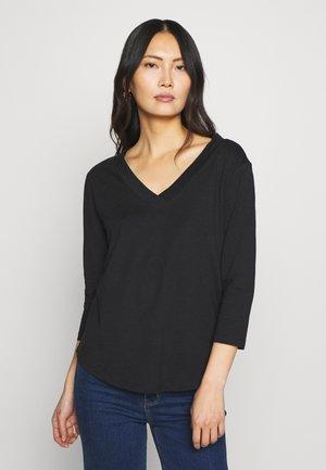 CORE VNECK - Bluzka z długim rękawem - black
