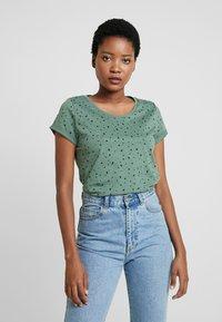 edc by Esprit - CORE - T-shirts med print - khaki green - 0