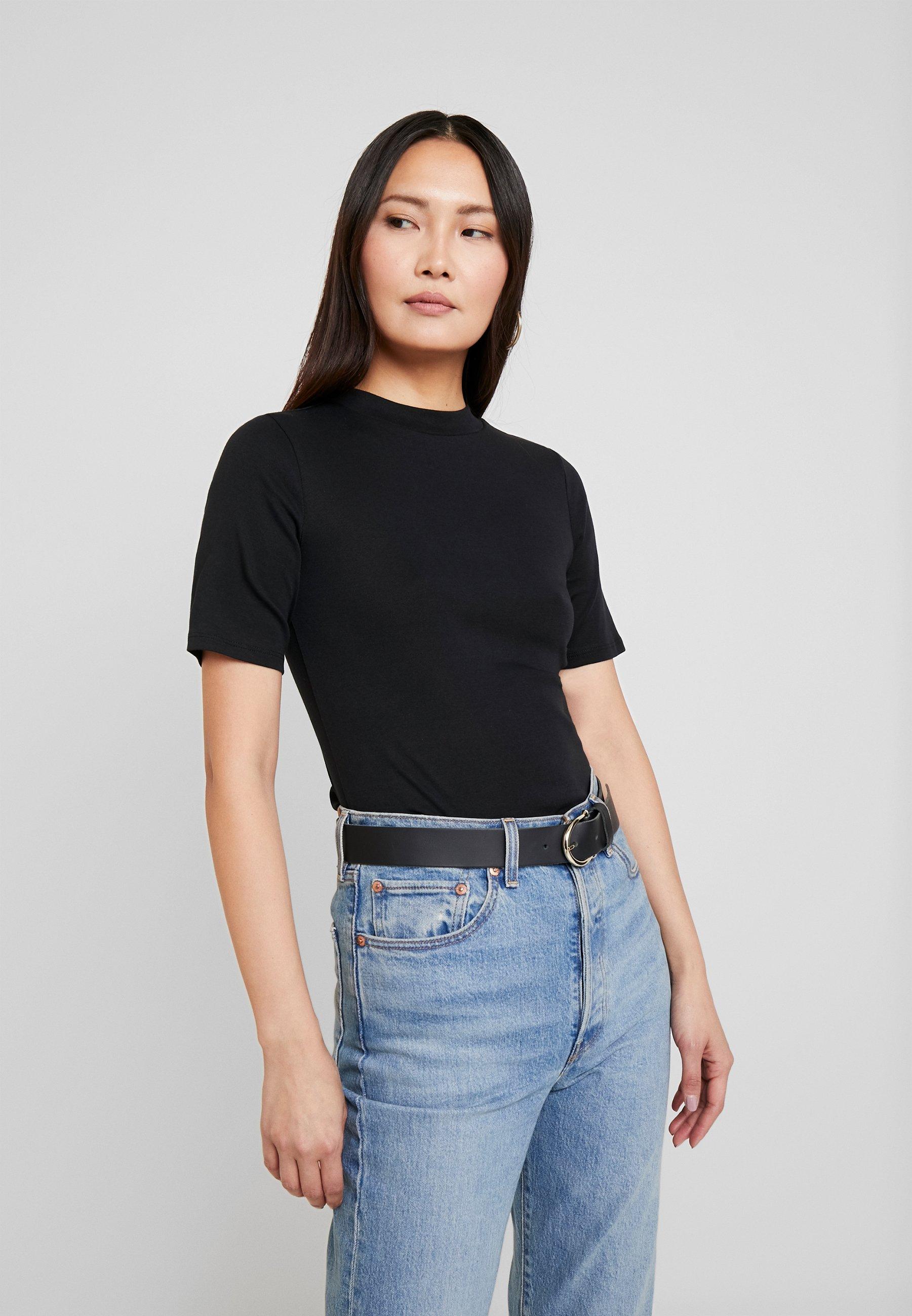 edc by Esprit CORE HIGH - T-shirt basic - black