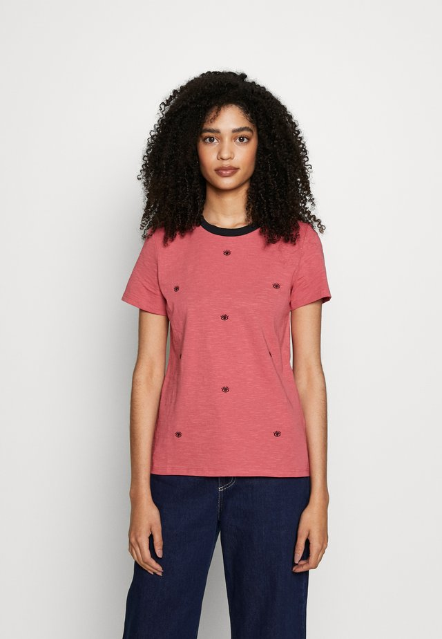 CORE SLUB - Camiseta estampada - blush
