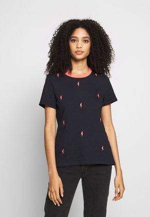 CORE SLUB - T-shirt z nadrukiem - navy