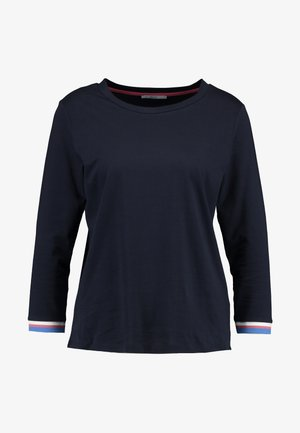 CORE TRIM TEE - Camiseta de manga larga - navy