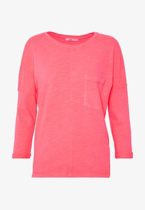 WASHED - Long sleeved top - coral