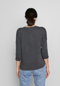 edc by Esprit - WASHED - Long sleeved top - black - 2