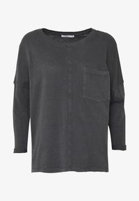 edc by Esprit - WASHED - Long sleeved top - black - 3