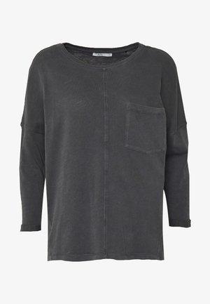 WASHED - Bluzka z długim rękawem - black