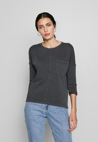 edc by Esprit - WASHED - Long sleeved top - black - 0