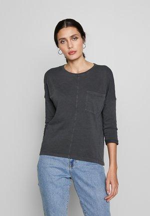 WASHED - Maglietta a manica lunga - black