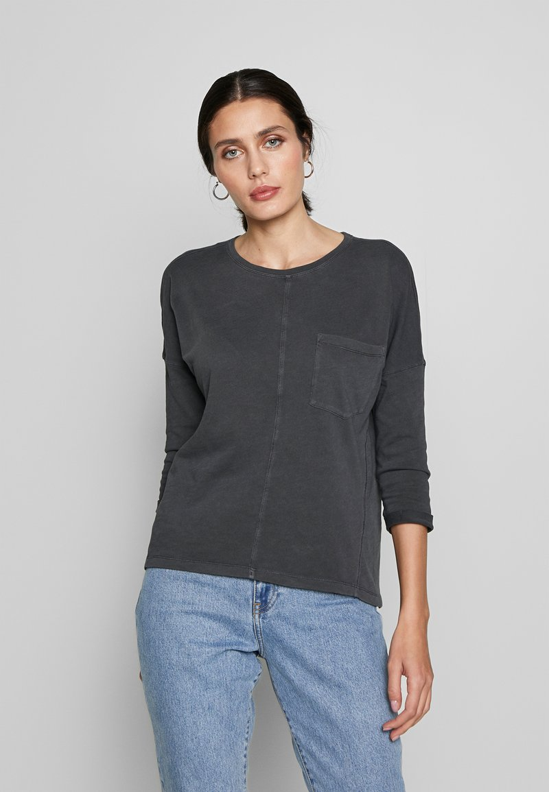 edc by Esprit - WASHED - Long sleeved top - black