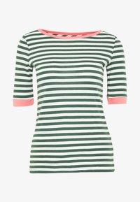 edc by Esprit - CONTRAST NECK - T-shirts med print - khaki green - 5