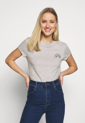 RAINBOW - T-shirt con stampa - light grey